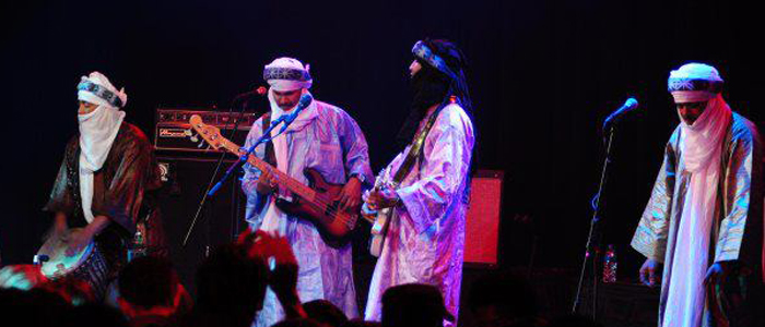 Grammy Winners TInariwen perform at the Howard Theater in Washington.