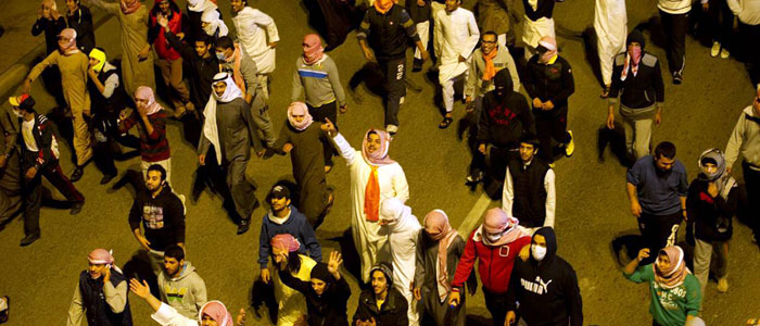 Protesters calling for changes in voting rules march in Sabah al Nasr suburb of Kuwait City in this December 5, 2012, file photo. (Reuters)