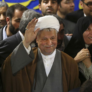 Former Iranian president, Ali Akbar Hashemi Rafsanjani, is seen in a May 11, 2013, file photo. (AP)