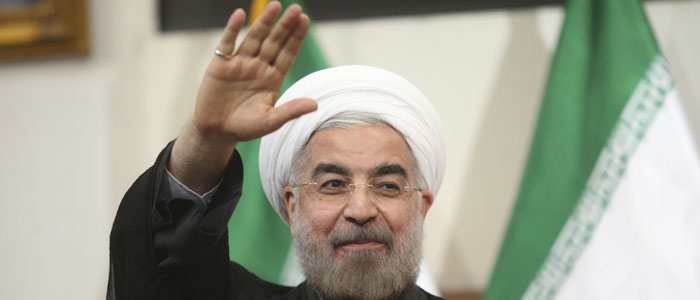 Hassan Rouhani gestures to the media during a news conference in Tehran in Tehran June 17, 2013. (Reuters)