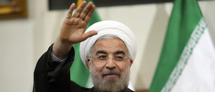 Hassan Rouhani, at the time Iran's president-elect, gestures to the media during a news conference in Tehran June 17, 2013. (Reuters)
