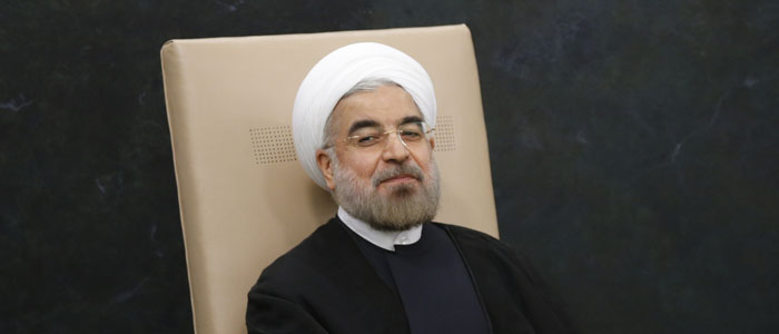 Iran's President Rouhani waits to address the 68th United Nations General Assembly in New York